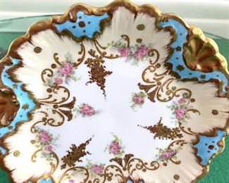 """Seven Pieces Vintage Limoges Glassware - includes six plates and one bowl. The plates on average, measure 8.5"""" and the bowl is 9.1"""" and 3"""""""