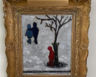 Framed Oil on Canvas by Georges Doussot (1962) Framed in an ornate gold frame (does have a few knicks)   This listed French Post -Impressionist was active in the 1960's and 70's and has sold a major auction houses including Southeby's and Christies.