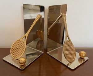 These mirrored metal bookends would be great for the tennis lover in your life! They are 5.5x3x4 inches.