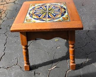 California Taylor tile table 1920's Spanish revival