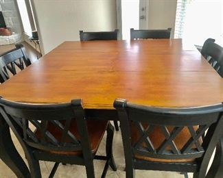 Large square breakfast or dining table/6chairs