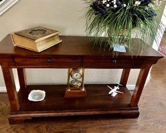 Wood entry/sofa table