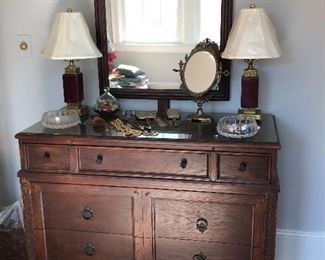 J B Sciver Furniture Co. Dresser and mirror