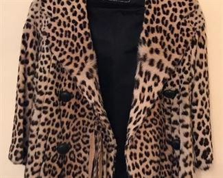 Jandel Leopard fur jacket from Montaldo size XS