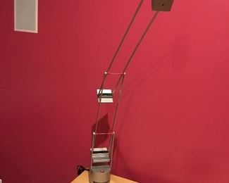One of a pair of modern desk lamps