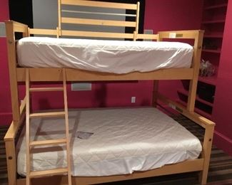 Modern bunk beds, full below twin above. Complete.