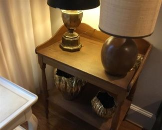 Vintage wash stand and lamps