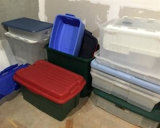 Lots of storage bins