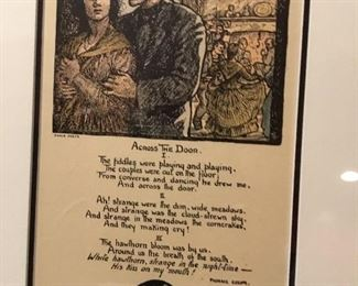 Irish poem framed