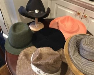 More including a Stetson and a Tyrolean hat