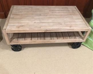 Neat railroad cart coffee table