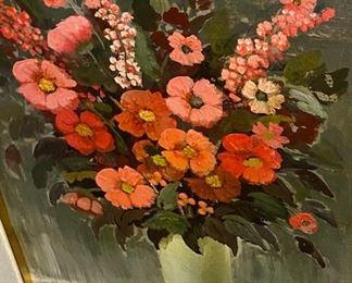 Original oil flower painting