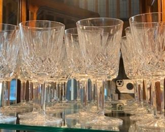 Waterford Lismore glasses, many sizes
