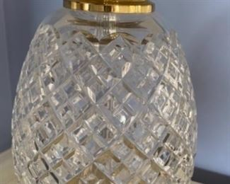Waterford crystal pineapple lamp