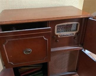 #3	Old Radio Cabinet w/Radio & Phonograph (not working) 35x17.5x35	$75