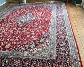 "#9	Hand-knotted Persian Kashan 10'7"" x 14'6""  	 $1,500.00"