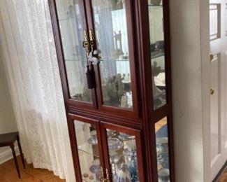 Curio cabinet 75.00