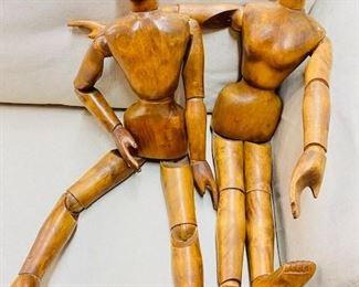 Wooden vintage mannequins