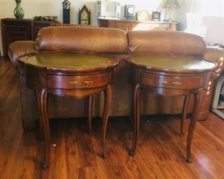 End Tables w/Leather Top