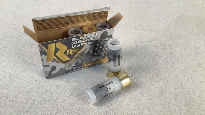 Mfg - (5)Rio 12 Gauge Model - 00 Buck 9P Low Recoil Caliber - Ammo Located in Chattanooga, TN Condition - 1 - New This is a 5 count box of Rio 9 Pellet 12 Gauge 00 Buckshot (Low Recoil) ideal for home defense, hunting, or target shooting.