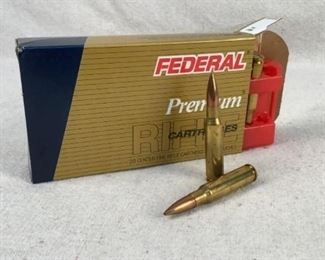 Mfg - (20)Federal Premium Model - 168gr 308. Win Match Caliber - Ammo Located in Chattanooga, TN Condition - 1 - New This is a 20 count box of Federal Premium 168 grain 308 Winchester Boat-Tail Hollow Point Match Ammo, ideal for precision shooting.