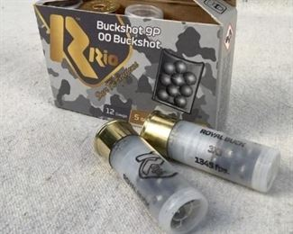 "Mfg - (5) Rio 12 GA 00 Model - Buckshot Located in Chattanooga, TN Condition - 1 - New This lot contains one 5 round box of Rio 12 gauge 00 Buckshot. 2 3/4"", 9 pellets."