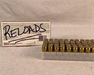 Mfg - (50)Reloaded Caliber - 45 Auto JHP Located in Chattanooga, TN Condition - 1 - New This is a box of (50) Reloaded 45 Auto with mixed cases. These bullets are jacketed hollow points.