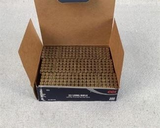 Mfg - (300) CCI Tactical Model - 40gr 22 Long Rifle Ammo Located in Chattanooga, TN Condition - 1 - New This is a 300 count box of CCI AR Tactical 40 grain 22 Long Rifle Ammo, optimized for reliable function in AR-22 platforms.