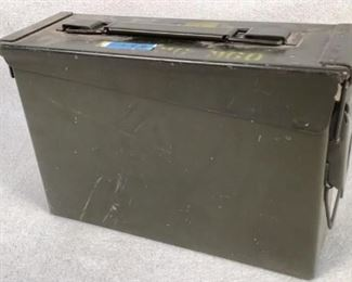 Mfg - .30 Cal ammo can Model - (EMPTY) Located in Chattanooga, TN Condition - 4 - Aged, Heavy Wear This lot contains a .30 Cal ammo can. ***THIS AMMO CAN IS EMPTY, IT IS JUST THE CAN***