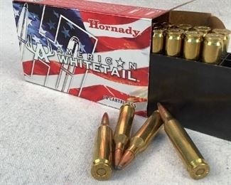 Mfg - (20) Hornady American Model - Whitetail 243 Win Caliber - ammunition Located in Chattanooga, TN Condition - 1 - New This lot contains one 20 round box of Hornady American Whitetail 243 Win ammunition. 100 grain Interlock bullet.