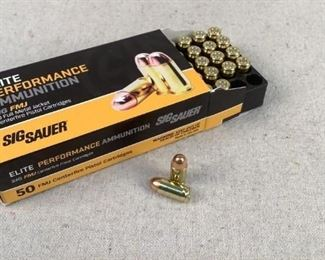 Mfg - (50) Sig Sauer Model - 100gr 380 Auto FMJ Caliber - Ammo Located in Chattanooga, TN Condition - 1 - New This is a 50 count box of Sig Sauer 100 grain 380 ACP FMJ ammo, ideal for traning/range purposes.