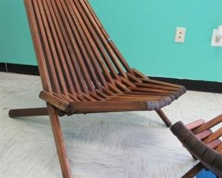 Hans Wegner style chair & foot rest