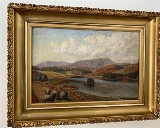 19th c. English school oil on canvas