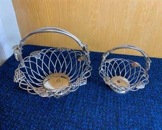 Godinger Silver Plated Grape Design Basket