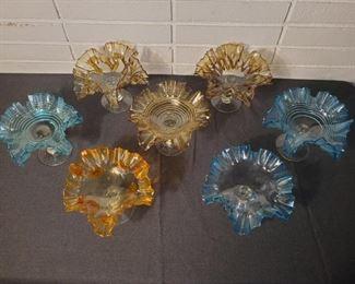 Ruffled Glass Bowls