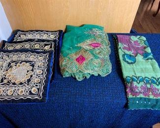 Shawl and Pillowcases