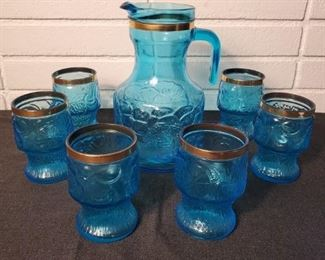 Vintage Italian Pitcher with Cups
