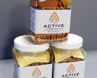 Active CBD Oil Dog Biscuits, Peanut Butter & Pumpkin Flavor, 50 Per Container, Qty 3