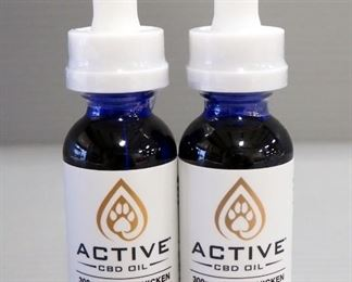 Active CBD Oil 300 mg Pet Tincture, Chicken Flavored, 1 oz Bottles, Qty 2