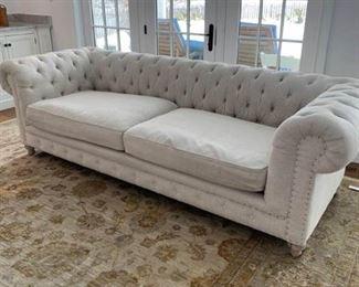 Extra Long Tufted Sofa