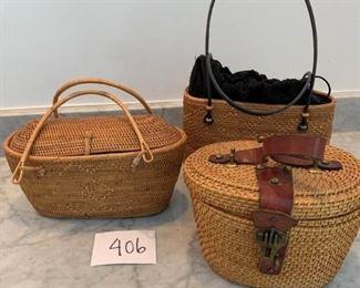 Vintage Woven Basket Handbags