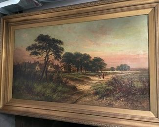 W.H. David oil painting