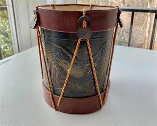 """$50 - Vintage drum bank; 8"""" (H) x 6"""" diameter"""
