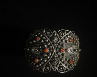 Silver antique Etruscan bracelet - price 150 dollars