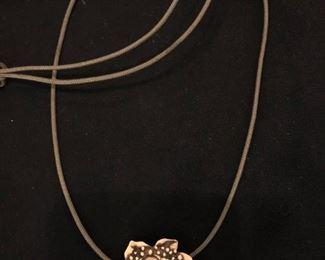 RH Badeau moon/sunflower face necklace