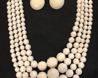 MCM layered white acrylic set