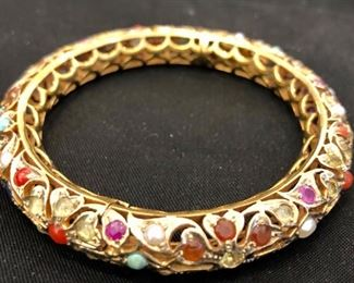 semi precious stones bangle