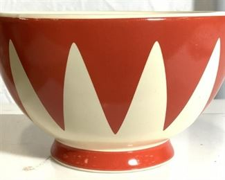 RED ENVELOPE Footed Porcelain Bowl