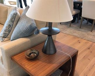 Pair of Side tables $800 - Pair of black lamps $300