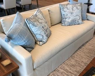 "Restoration hardware Brand New Sofa - Linen - $2500 appx 83"" x 36"" x 31"" (pillows are not for sale)"